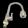 ก๊อกซิ้งค์อ่างล้างจาน-คอสูง-หัวฝักบัว-สแตนเลส304-ติดเคาน์เตอร์-มีใบปัด-สีสแตนเลส-เงางาม
